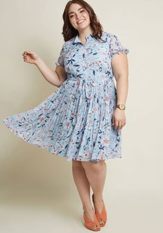 Ladies Light Blue Gauzy Full Skirt Plus 3x Floral & Butterfly Mary Jane
