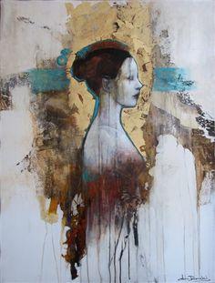 Sweet Dreams by Joan Dumouchel abstract figurative art | drawings