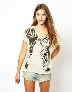 Denim & Supply By Ralph Lauren Zebra T-Shirt Latest Fashion Clothes, Fashion Online, Denim And Supply, Asos Online Shopping, Women Wear, Ralph Lauren, Tank Tops, T Shirt, Beauty