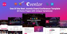 Eventor - Conference & Event Joomla Template - Events Entertainment
