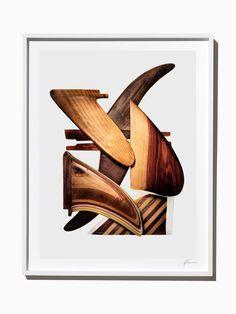 Wooden Surfboard Fins, Composition #1