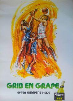 1976 Carlsberg Grape Basketball  Original by OutofCopenhagen