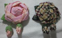 Flor de tecido broche