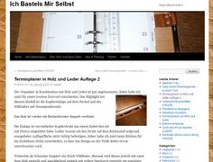 Terminplaner in Holz und Leder #notebook #diary #stationery #notizbuch #tagebuch #papier #notizbuchblog