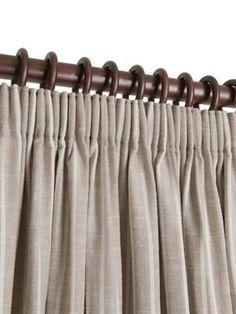 Ready Made Pencil Pleat Curtains In Laguna. 100% Cotton. Ready Made Curtains | Uk Made - Natural Curtain Company