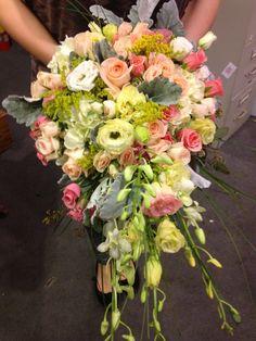 Hand-tied cascade bouquet