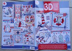 Magazine 3D Carterie/scrapbooking pour la réalisation de 14 Cartes Marin : Papeterie, carterie par happy-scrap-arts