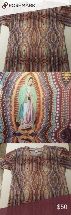Artist Luis valle art virgen de Guadalupe T-shirt Luis Valle art el changuri design. Virgen de Guadalupe  Unisex size small men Medium woman luis valle art Shirts Tees - Short Sleeve