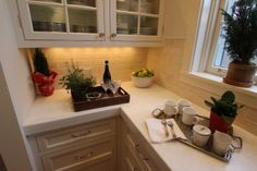 Kitchen #countertop with light colored #granite.