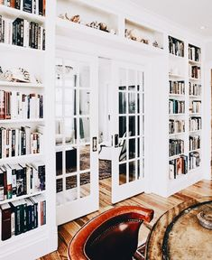 French doors. Home library. Study. Den.