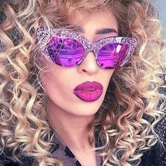 This girl put the hot in 'hot-pink' - LuLu Trixabelle modelling Vow London - As seen on the MIX Hair Goals, Curls, Hot Pink, Photo And Video, Model, Instagram Posts, Fans, London, Roller Curls