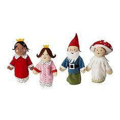 """GLADLYNT glove puppet family Length: 11 """" Length: 27 cm"""