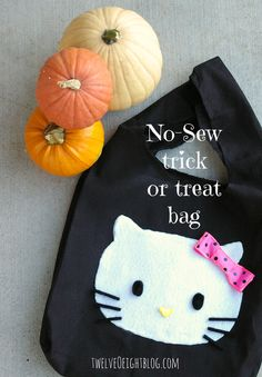no sew trick or treat bag - glow in the dark