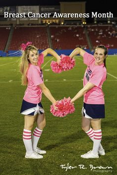 The Lone Star high school cheerleaders celebrated Breast Cancer Awareness Month at the game against Aubrey. - Tyler R. Brown Photography