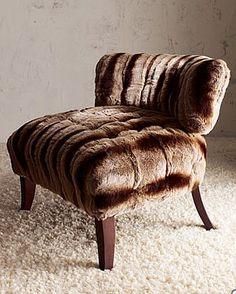 Faux Fur Chair, looks super comfy