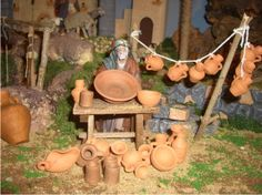 álbumes de fotos                                                                                                                                                                                 Más Diy Nativity, Christmas Nativity, Christmas Time, Church Activities, Miniature Furniture, Christmas Decorations, Scene, Clay, Diy Crafts