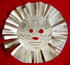 Masque soleil inspiré de l'Afrique- Tête à modeler