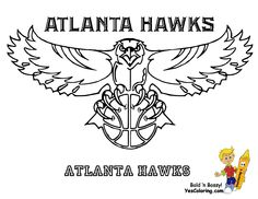 Georgia Pro Sports Coloring Day Atlanta Hawks See N Crayon Match Team Colors