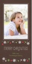 Floral Flakes Christmas Card by Amy Sheridan