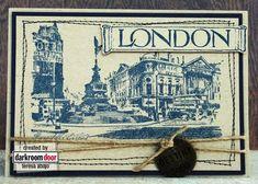 Card by Teresa Abajo using Darkroom Door 'London Vol 1' Rubber Stamps