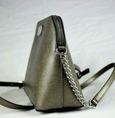 9f59a3033e7e Michael-Kors-Cindy-Nickel-LG-dome-Crossbody-Leather-purse