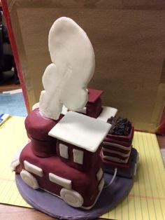 Train cake topper3 Train, Homemade, Cake, Desserts, Food, Tailgate Desserts, Deserts, Home Made, Kuchen