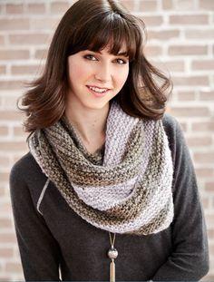 Lavender Fields Easy Knit Shawl Pattern