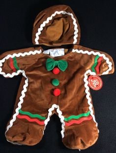 Build A Bear Gingerbread Man Costume Outfit 2 Pc Retired