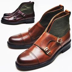 Mens Contrast Accent Monk Strap Chukka Boots By Guylook.com