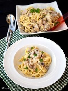 spaghetti with tuna and mushrooms Good Food, Yummy Food, Healthy Life, Macaroni And Cheese, Recipies, Stuffed Mushrooms, Food And Drink, Cooking Recipes, Vegetarian
