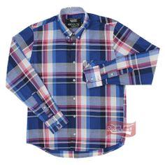Camisa Masculina Xadrez Manga Longa c/ 1 Bolso Frontal - ABQM