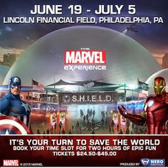 You can win tickets to @MarvelExperience coming to Lincoln Financial Field June 19 - July 5 #tmxPhiladelphia