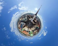 World city panoramas transformed into 360-degree globes  – in pictures ~ Vienna, Austria, St. Michael's Church