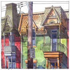 4242 rue Berri #berri #mtl #montreal #canada #croquis #sketch #watercolor #art…