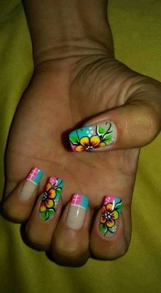 Have Some Fun, Nails Inspiration, Nail Art Designs, My Nails, Short Hair Styles, Hair Beauty, Lily, Mail Art, Triangles