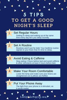 5 Tips to Get a Good Night's Sleep - these 5 tips have helped me sleep better at night, which is something I've struggled with for years!   #sleep #selfcare