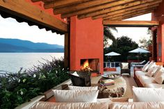 Exquisite Mexican living room with a view