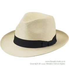 Panador Montecristi of Cuenca Natural Fedora Panama Hat: woven in the expert tradition of Montecristi by the finest weavers in Cuenca, this silk-like Panama hat represents a long history of Ecuadorian culture.