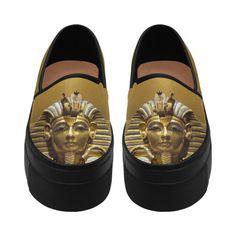 Egypt King Tut Selene Deep Mouth Women Shoes (Model 311)