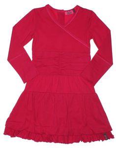 ZieZoo longsleeve jurk met laagjes fuchsia roze