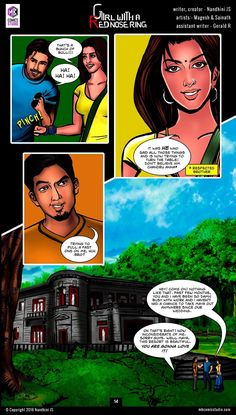 Sivappu Kal Mookuthi (a.a Girl with a Red Nose Ring): Page 13 & 14 Read Comics Free, Comics Pdf, Download Comics, Comic Book In Hindi, Online Comic Books, Comics Online, Horror Books, Horror Comics, Kamsutra Book