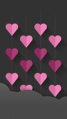 Heart Wallpaper Ideas Black Cellphone Art Mobile