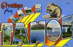 Todos os tamanhos | Greetings from Lake Tahoe - Large Letter Postcard | Flickr – Compartilhamento de fotos!