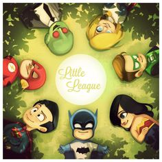 Cute Justice Little League GeekArt by sab-m