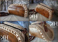"Pochette ""Coconut"" Original crochet bag by Katy Handmade"