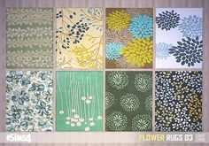 Leo 4 Sims Fluffy Rugs Sims 4 Downloads Furniture