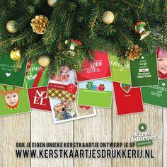 Kerstkaartje - Ontwerp je eigen kerstkaartjes / nieuwjaarskaartjes.  www.kerstkaartjesdrukkerij.nl #kerstkaartjes #zelfontwerpen