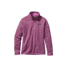 Women's Patagonia Better Sweater 1/4 Zip 25617 - Mock Purple Sweater... ($99) ❤ liked on Polyvore featuring tops, sweaters, purple top, layered sweater, layered tops, 1/4 zip sweater and patagonia sweater