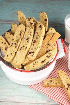 Chocolate Chip Biscotti {VIDEO} - Miss in the Kitchen Chocolate Chip Biscotti Recipe, Biscotti Cookies, Chocolate Chip Recipes, Yummy Cookies, Pecan Recipes, Baking Recipes, Cookie Recipes, Dessert Recipes, Desserts