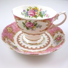 There is always time for tea...Vintage Lady Carlyle teacup and saucer...